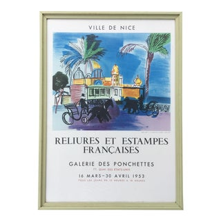 Vintage 1950s French Exhibition Poster by Raoul Dufy For Sale