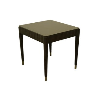 Bernhardt Furniture Contemporary Modern Black Painted Accent End Table For Sale