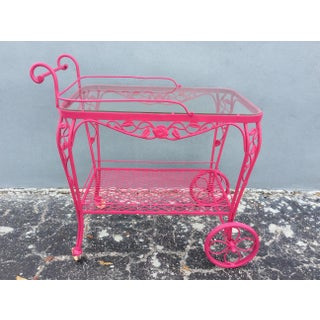 Vintage Mid Century Patio Bar Cart Preview