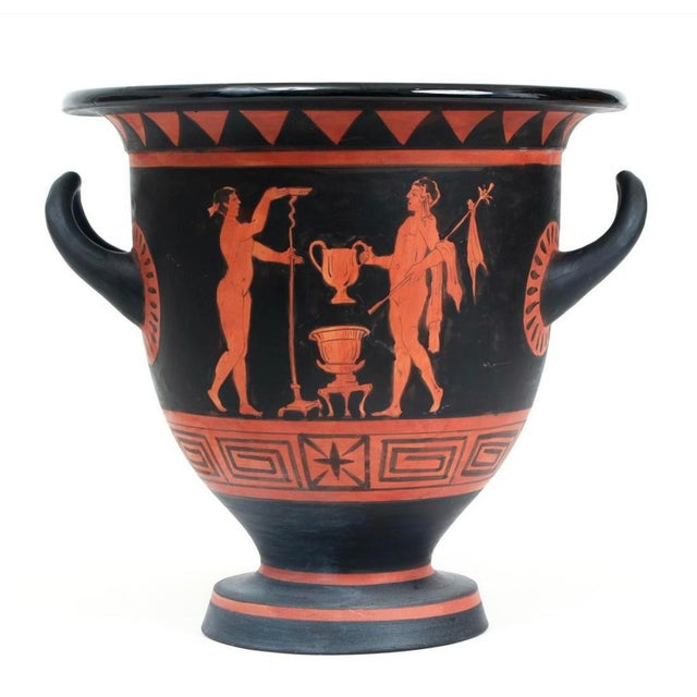 Grand Tour 19th Century Grand Tour Style Ancient Greek Urn Copy For Sale - Image 3 of 10