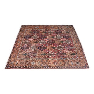 """Old Hand Knotted Persian Bakhtiar Rug- 11'9"""" x 14'4"""" For Sale"""