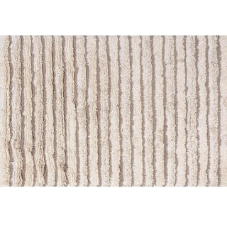 Stark Studio Rugs Contemporary Indian Hand Woven 100% Wool Rug - 6′ × 9′ For Sale