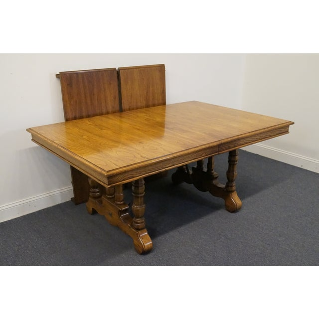 """Thomasville Segovia Spanish revival 108"""" dining table. We specialize in high end used furniture that we consider to be at..."""
