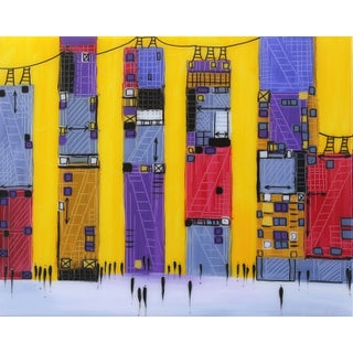 "Ekaterina Ermilkina ""Skyline"" Contemporary Painting For Sale"