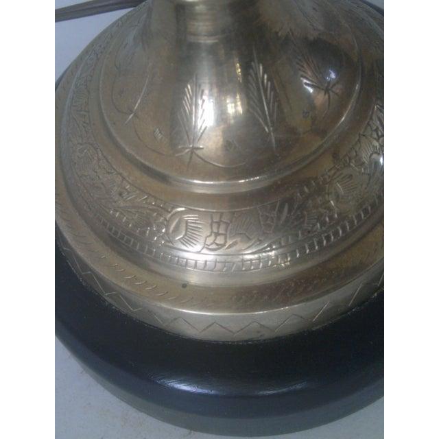 Vintage Brass Jardiniere Lamp For Sale In Denver - Image 6 of 8