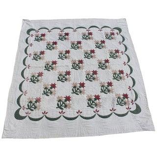 Carolina Lily Applique Quilt For Sale
