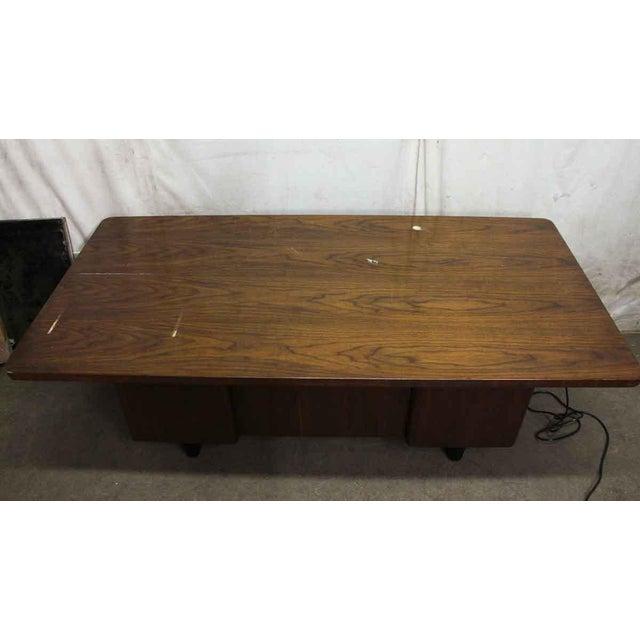 Art Deco Walnut Veneer Executive Desk For Sale - Image 4 of 7
