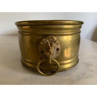 Vintage Brass Cachepot Planter Preview