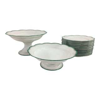 Artichoke or Asparagus Plates - Set of 12 For Sale