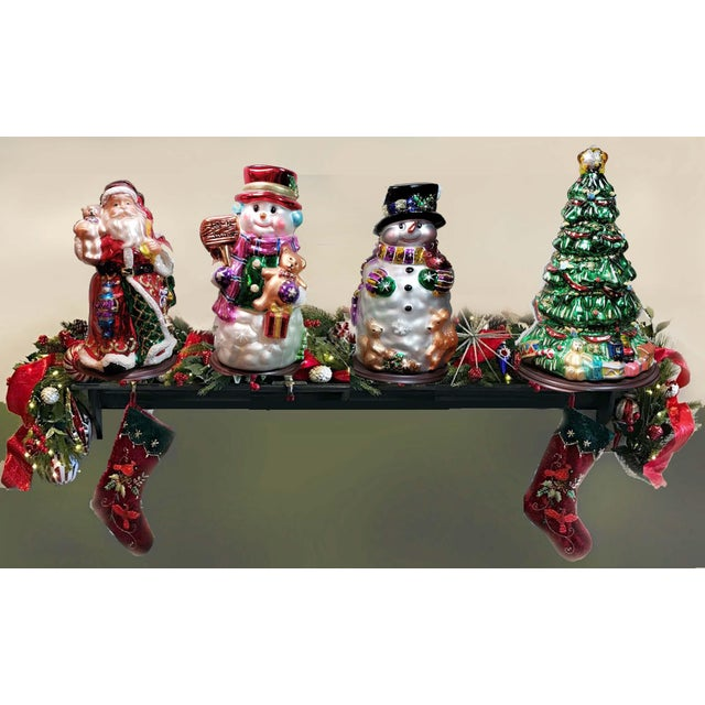 """Mid 20th Century Authentic Thomas Pacconi Classics 14"""" Glass Blown Handpainted Santa Claus For Sale In Los Angeles - Image 6 of 7"""