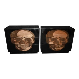 """Pair of Large Sculptural """"Skull"""" Design Commodes For Sale"""