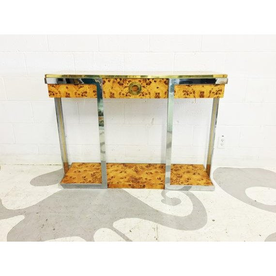 Willy Rizzo Burl Wood Console - Image 2 of 6