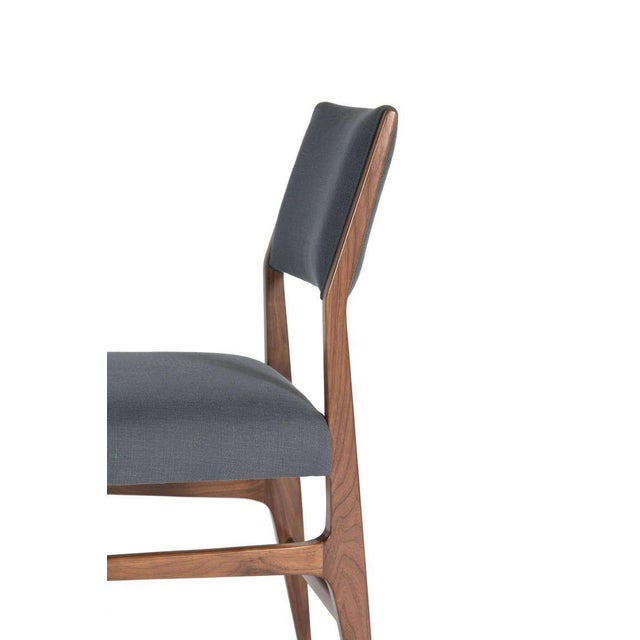 Customizable Maze Walnut Dining Chair For Sale - Image 4 of 5