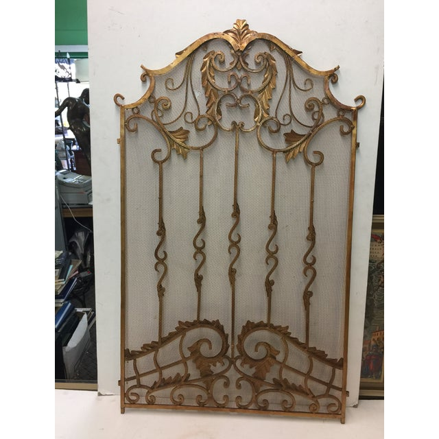 Ornate Fireplace Screen For Sale - Image 4 of 12