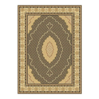 "Traditional Black Area Rug - 5'3"" x 7'3"" For Sale"