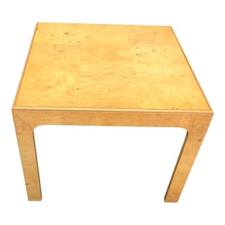 Mid Century Modern Henredon Scene Two Burlwood Table For Sale