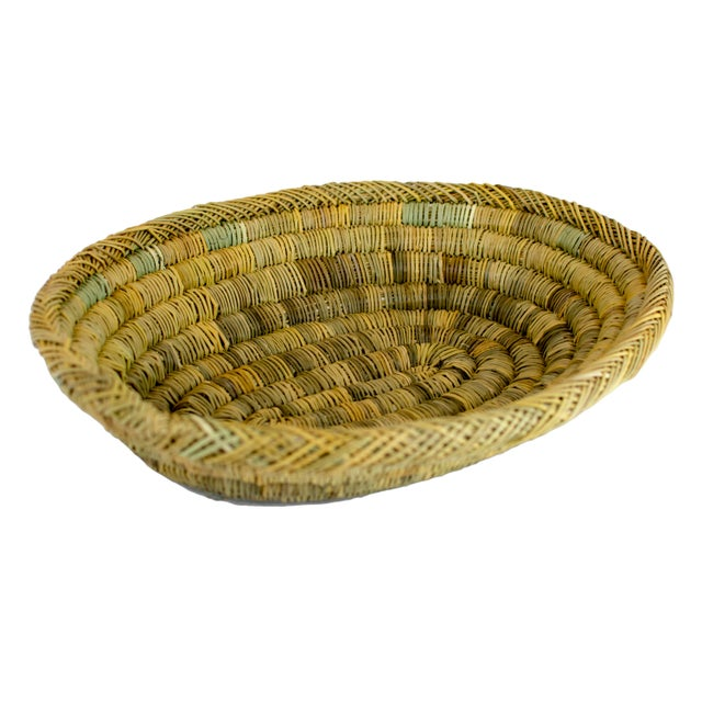 Boho Chic Handmade Rustic Moroccan Oval Bread & Fruit Basket For Sale - Image 3 of 3