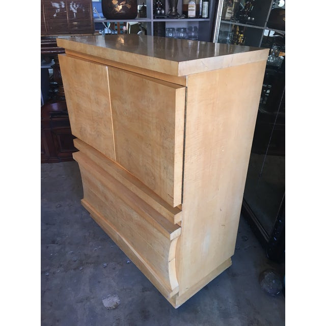 Mid-Century Birds Eye Maple Highboy Dresser For Sale - Image 4 of 11