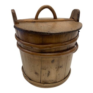 Antique Pine Swedish Storage Box For Sale