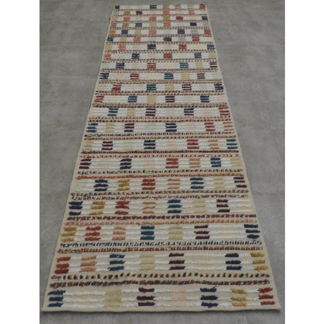 Hand Knotted Oushak Runner Rug - 2′8″ X 9′10″ - Image 5 of 10