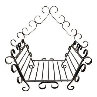 Wrought Iron Log Holder For Sale