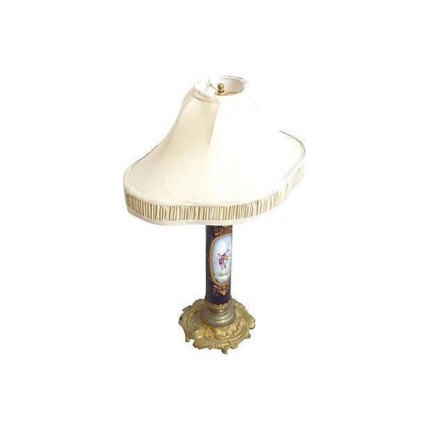 French Antique Porcelain Sèvres Lamp For Sale - Image 3 of 9