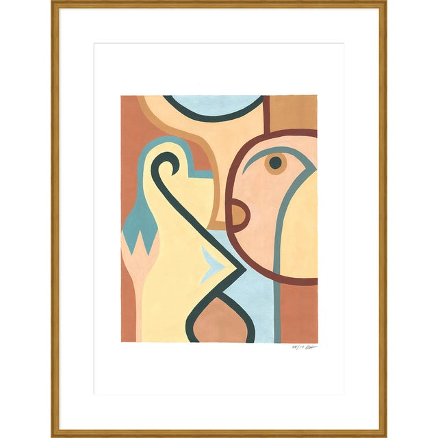 """Contemporary Large """"Three"""" Print by Sia Dzahn, 38"""" X 50"""" For Sale - Image 3 of 3"""