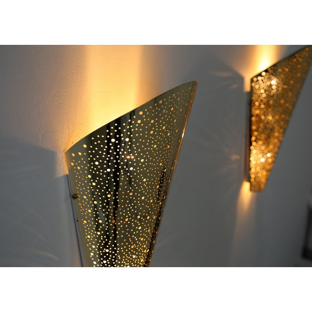 Contemporary Golden Wall Sconce From Modern Wall. For Sale - Image 3 of 8