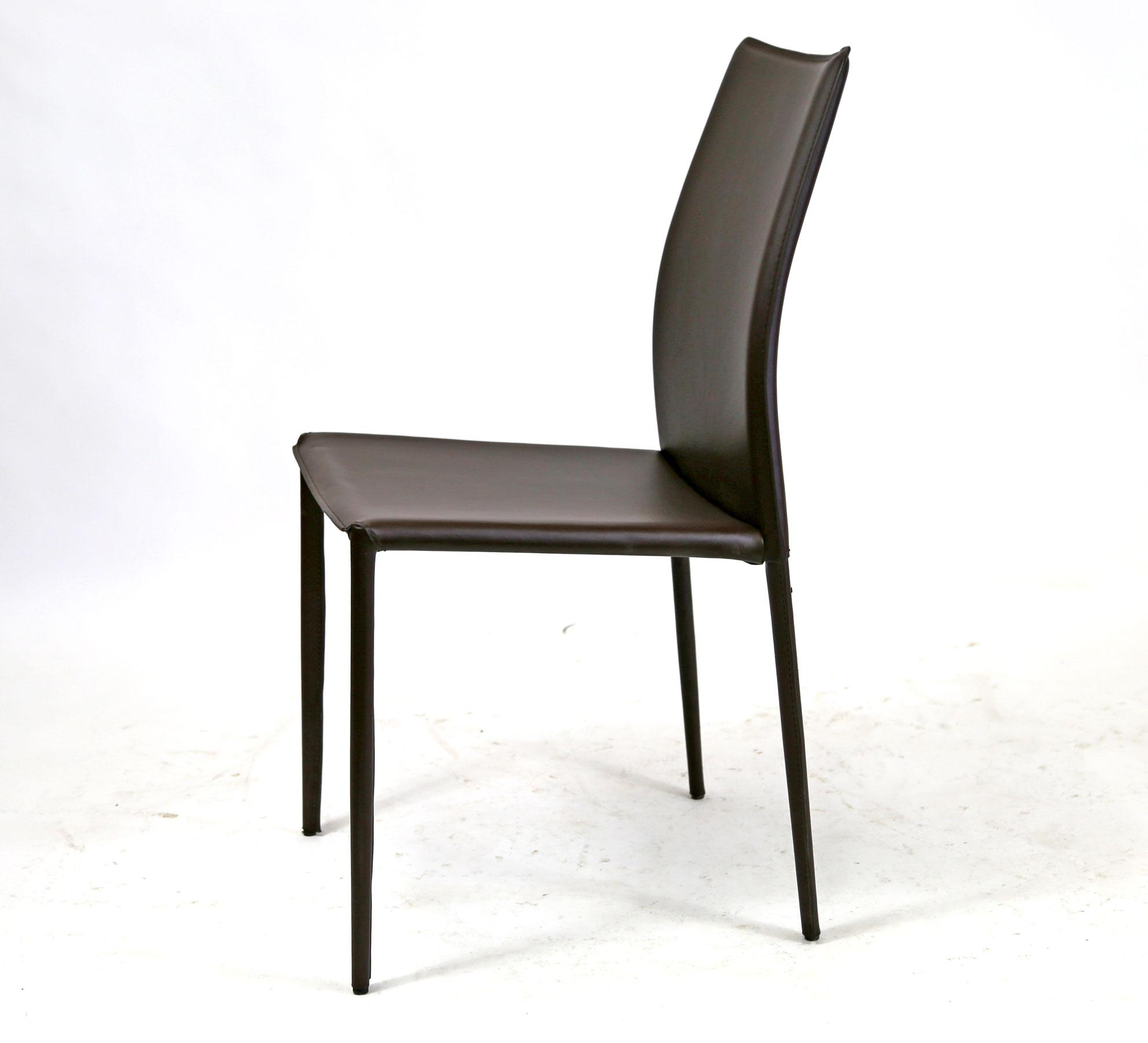 Attirant Alphaville Design Lily Brown Leather Dining Chair For Sale   Image 4 Of 11