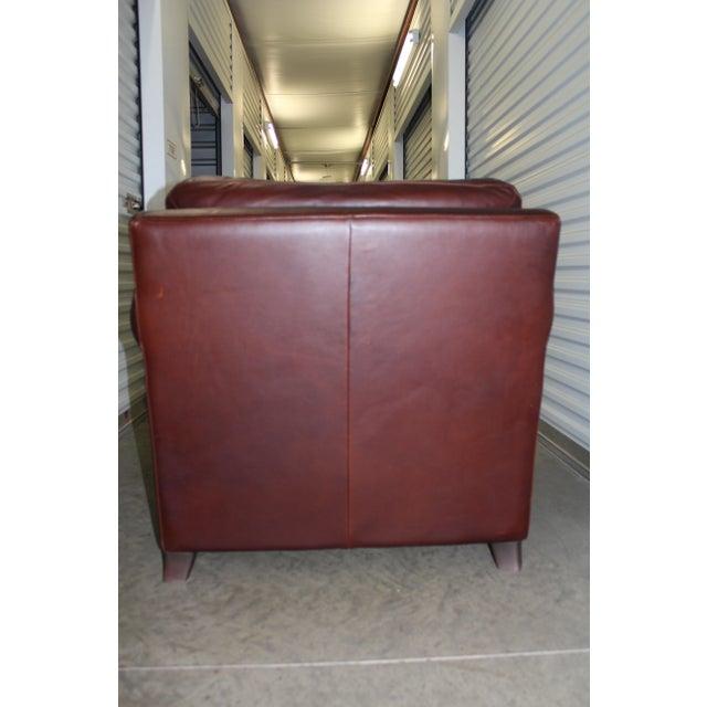 Natuzzi Leather Club Chair & Ottoman - Image 3 of 5
