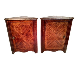 French 18th Century Kingwood Corner Cabinets - a Pair For Sale