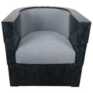 Enrique Garcel Armchair on Swivel Base For Sale