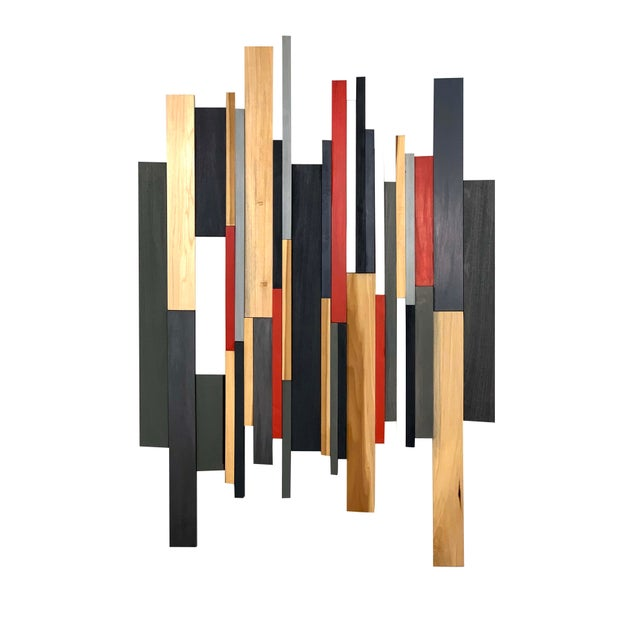 2020s Abstract Modern Wooden Artwork For Sale - Image 5 of 5
