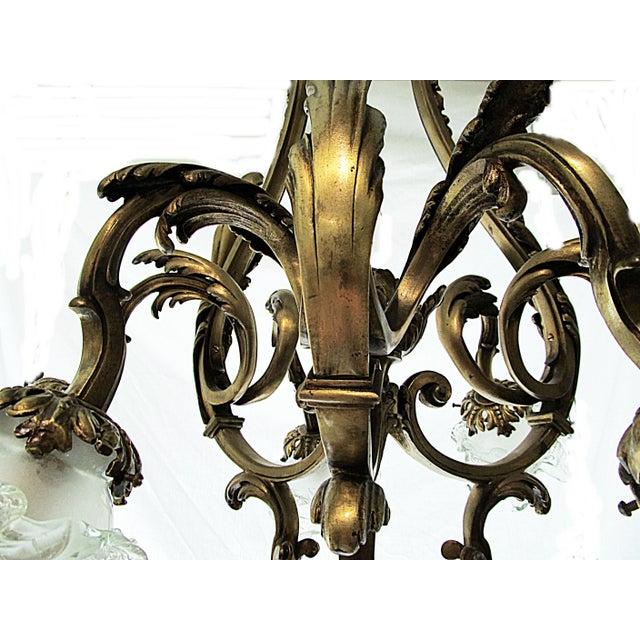 French Bronze-Dore' Art-Nouveau Fixture For Sale - Image 4 of 9