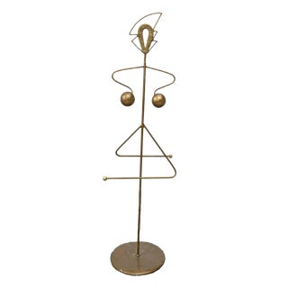 French Mid-Century Modern Figural Valet Stand Garment Rack For Sale