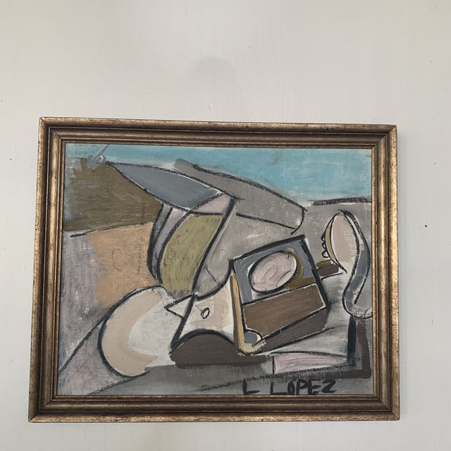1980s 1980s Framed Charcoal Abstract Drawing For Sale - Image 5 of 13
