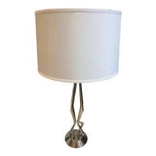 Modern Visual Comfort Barry Goralnick Selene Nickel Table Lamp For Sale