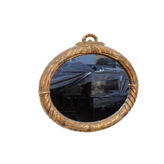 20th Century French Style Gilt Oval Mirror For Sale