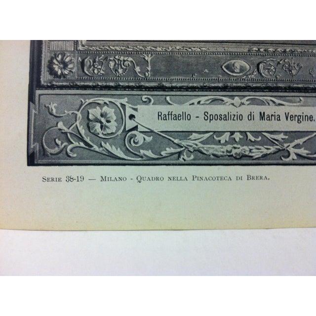 """Figurative Circa 1930 """"Quadro Nella Pinacoteca Di Brera"""" Print of Milano Italy For Sale - Image 3 of 4"""