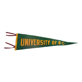 Vintage University of B.C. Felt Flag Pennant For Sale