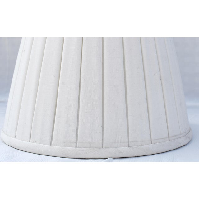 Custom Belgian Lined Pleated Lamp Shade For Sale - Image 4 of 5