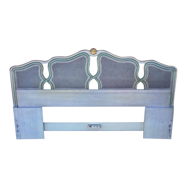 Vintage Shell Carved King Size Headboard - Image 1 of 6