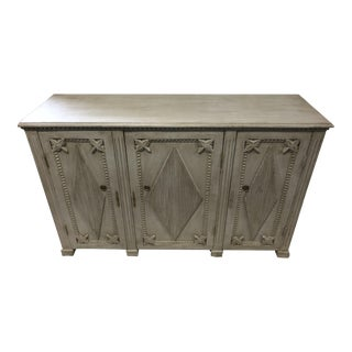 20th Century Gustavian Gray Oak Buffet For Sale