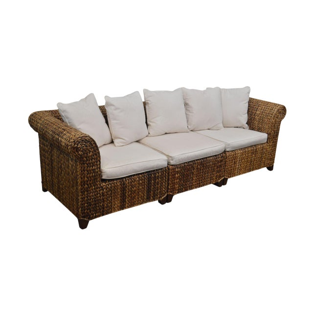 Pottery Barn Seagrass Sectional Sofa For Sale