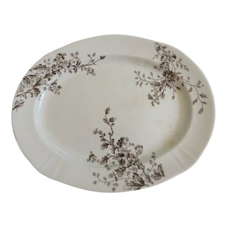 Antique Transfer Small Oval Platter by Alfred Meakin England For Sale