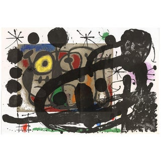 """Original Lithograph by Joan Miro From """"Derriere Le Miroir No. 151-152 - Miro: Cartons (1965) For Sale"""