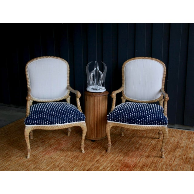 Dessin Fournir Newly Upholstered Rope & Tassel Armchairs, a Pair For Sale - Image 4 of 12