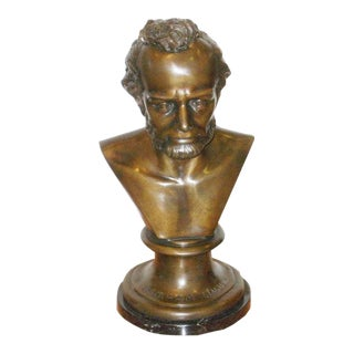 Large Bronze Abraham Lincoln Bust For Sale