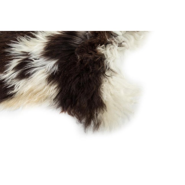 "Contemporary 2010's Modern Natural Sheepskin Pelt Rug - 1'10""x3'7"" For Sale - Image 3 of 7"