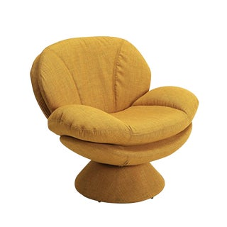 Mid-Century Yellow Bucket Club Chair